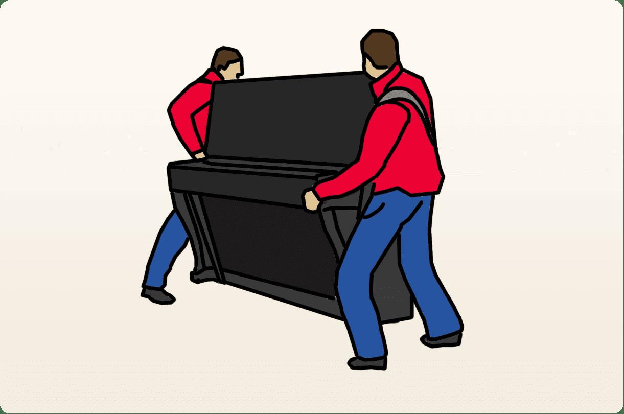 Règles et étapes du transport du piano