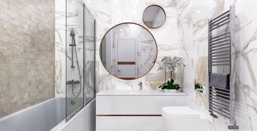 Comment concevoir unepetite salle de bain: 6 nouvelles idées